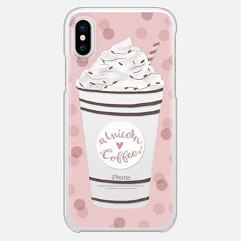 iPhone X Case Unicorn Coffee