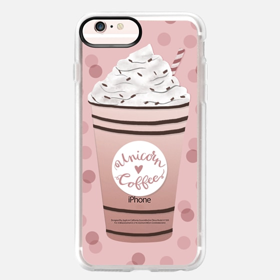 iPhone 6s Plus Hülle - Unicorn Coffee