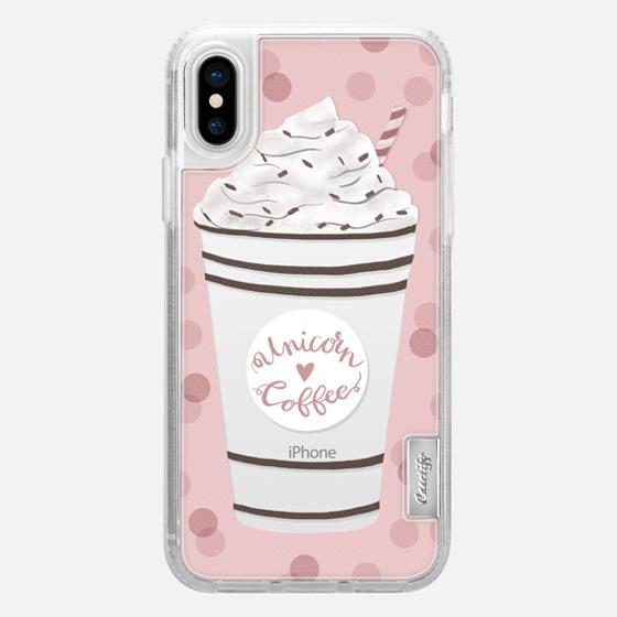 iPhone X เคส - Unicorn Coffee