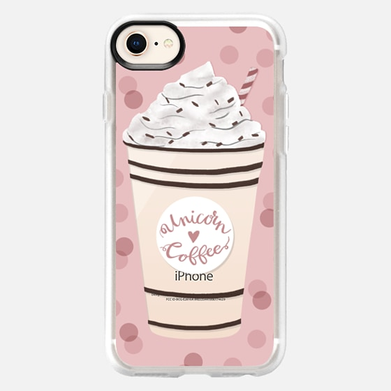 iPhone 8 ケース - Unicorn Coffee