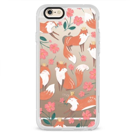 iPhone 6s Cases - Fox and Flowers