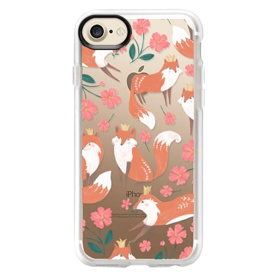 iPhone 7 Cases - Fox and Flowers