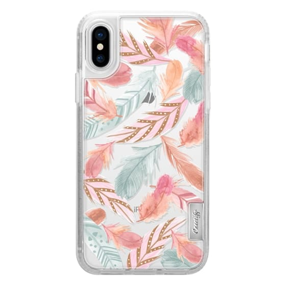 iPhone X Cases - Boho Feathers