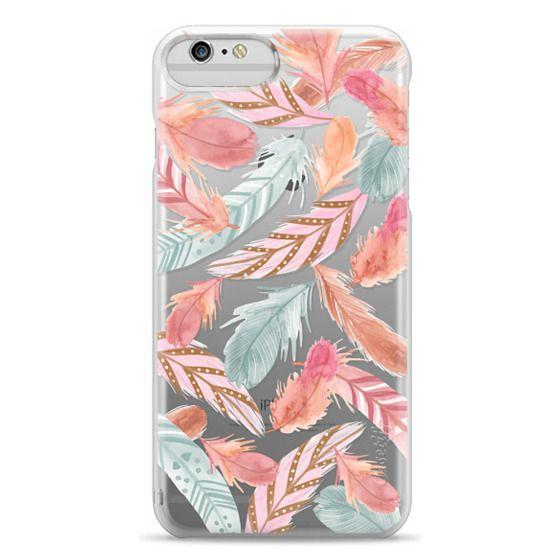iPhone 6 Plus Cases - Boho Feathers