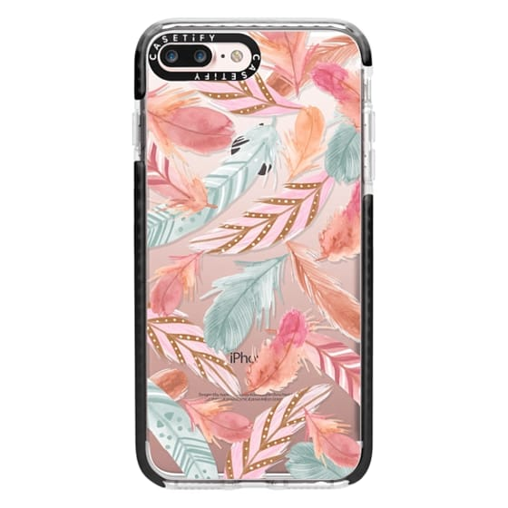iPhone 7 Plus Cases - Boho Feathers
