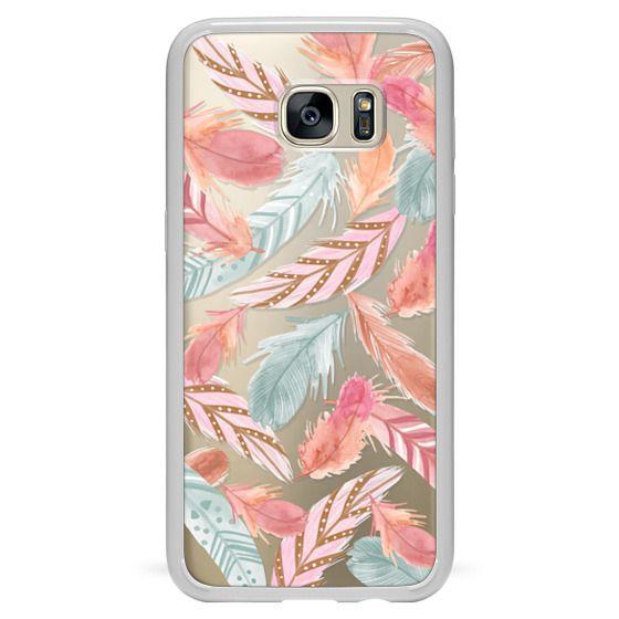 Samsung Galaxy S7 Edge Cases - Boho Feathers