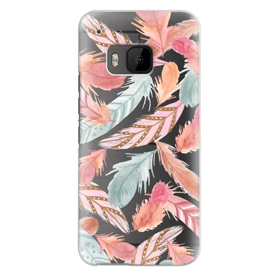 Htc One M9 Cases - Boho Feathers