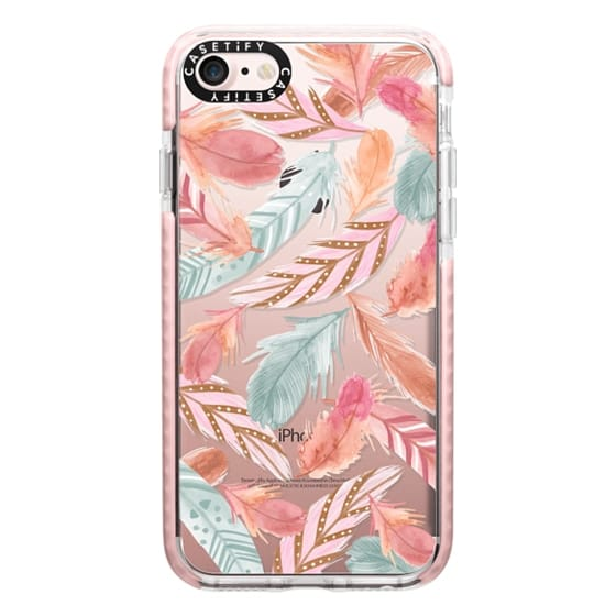 iPhone 7 Cases - Boho Feathers