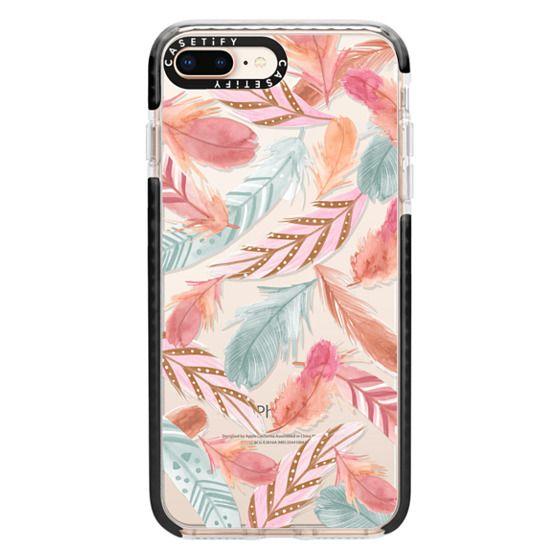 iPhone 8 Plus Cases - Boho Feathers
