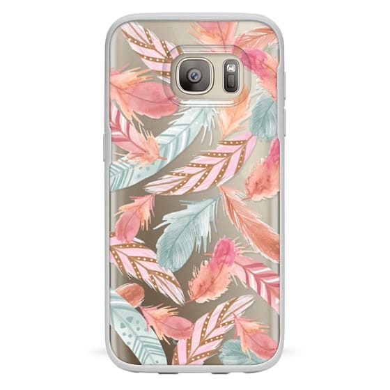 Samsung Galaxy S7 Cases - Boho Feathers