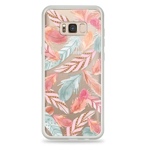 Samsung Galaxy S8 Plus Cases - Boho Feathers