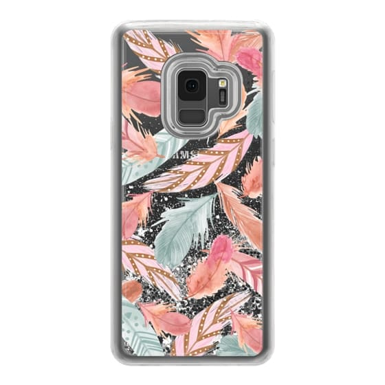 Samsung Galaxy S9 Cases - Boho Feathers