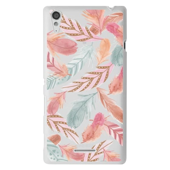 Sony T3 Cases - Boho Feathers