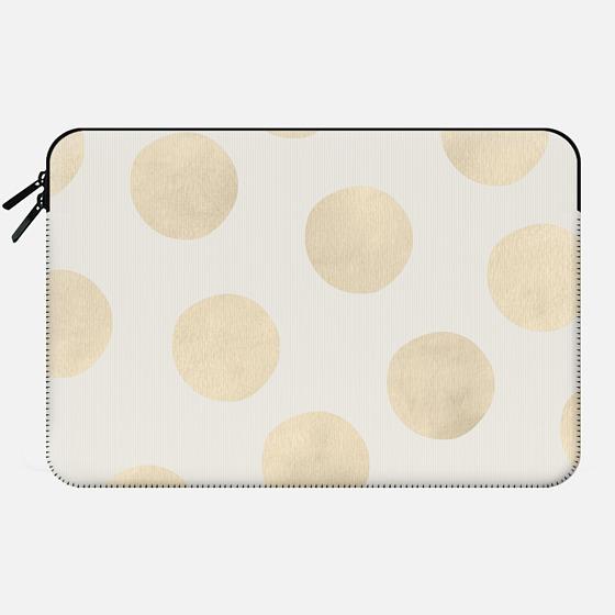 Gold Polka Dots - Macbook Sleeve
