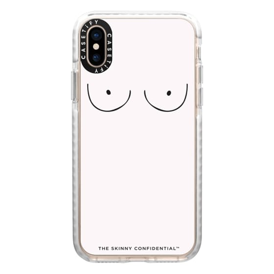 iPhone XS Cases - The Boobs: French Rosé