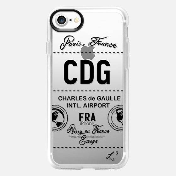 CDG - Paris, France - Travel The World - Wallet Case