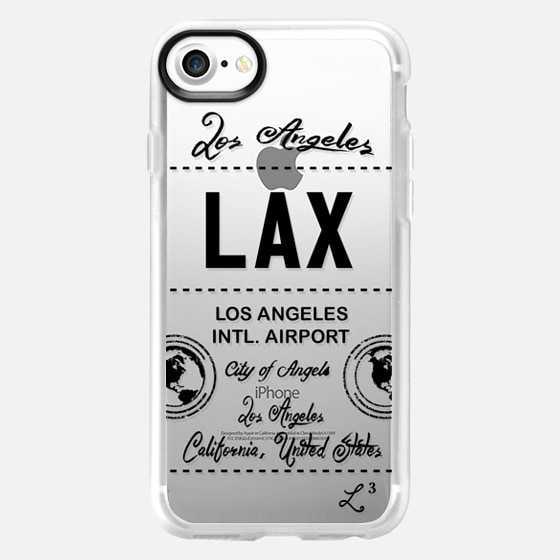 LAX - Los Angeles, CA - Travel The World - Wallet Case