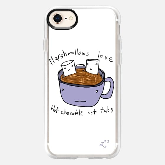 Fall Collection - Marshmallows Love Hot Tubs - Snap Case