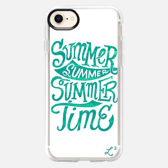 Summer Summer Summer Time - Ocean Teal - Snap Case