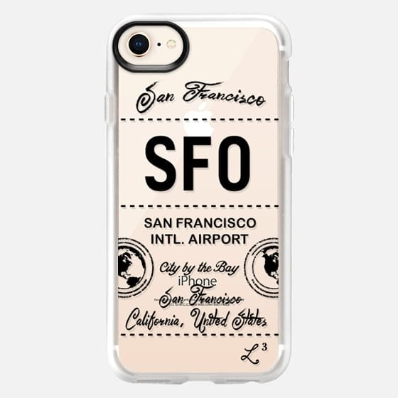 SFO - San Francisco, CA - Travel The World - Snap Case