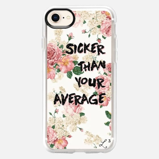 Hip Hop Classics - Sicker Than Your Average Pink Pastel Flowers - Snap Case