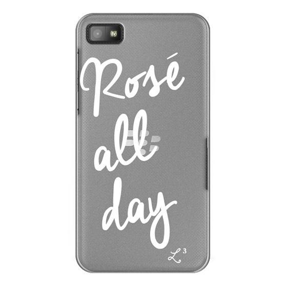 Blackberry Z10 Cases - Rose' All Day - White Transparent