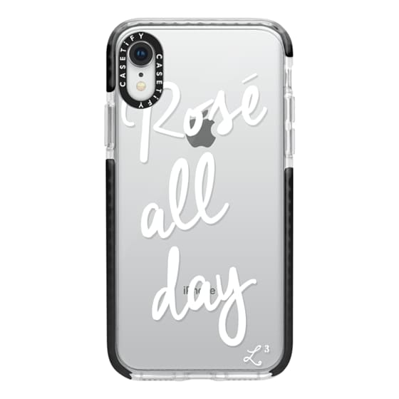 iPhone XR Cases - Rose' All Day - White Transparent