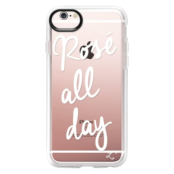 iPhone 6s Cases - Rose' All Day - White Transparent