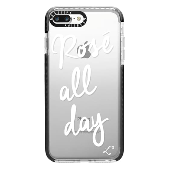 iPhone 7 Plus Cases - Rose' All Day - White Transparent