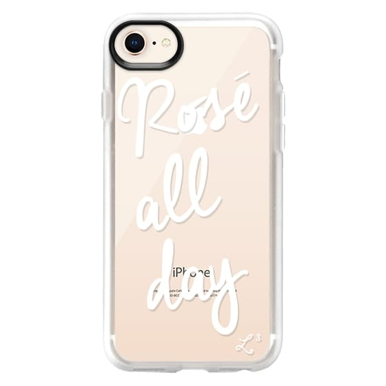 iPhone 8 Cases - Rose' All Day - White Transparent