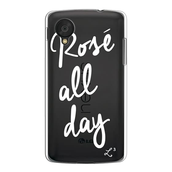 Nexus 5 Cases - Rose' All Day - White Transparent