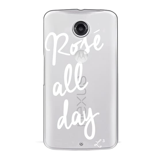 Nexus 6 Cases - Rose' All Day - White Transparent
