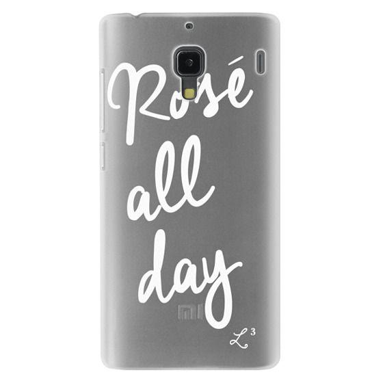 Redmi 1s Cases - Rose' All Day - White Transparent