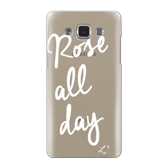 Samsung Galaxy A5 Cases - Rose' All Day - White Transparent