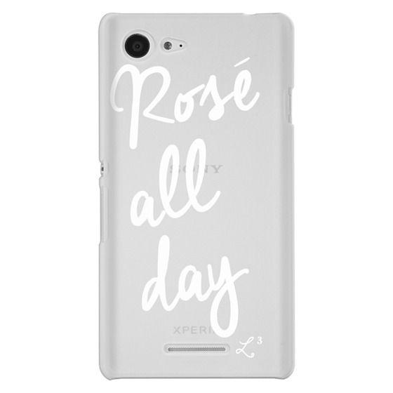 Sony E3 Cases - Rose' All Day - White Transparent