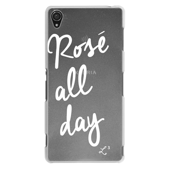 Sony Z3 Cases - Rose' All Day - White Transparent