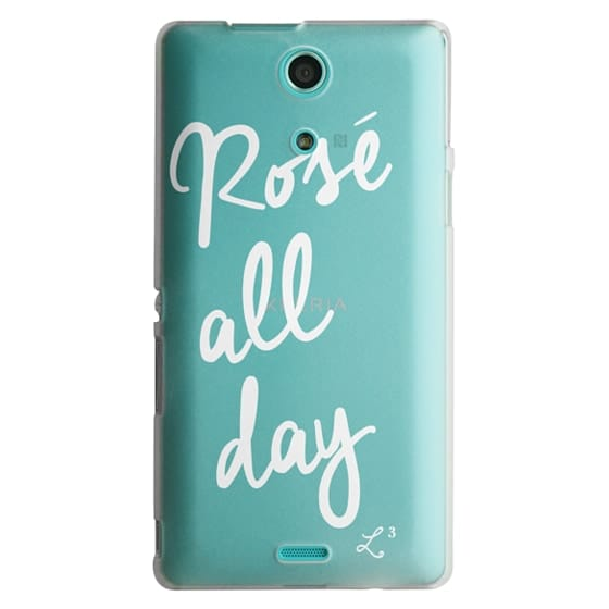 Sony Zr Cases - Rose' All Day - White Transparent
