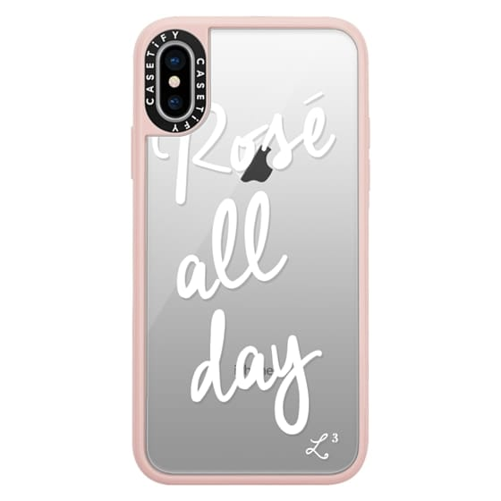 iPhone X Cases - Rose' All Day - White Transparent