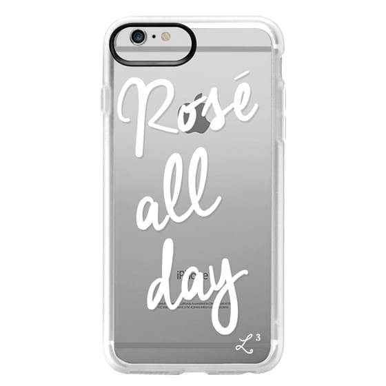iPhone 6 Plus Cases - Rose' All Day - White Transparent