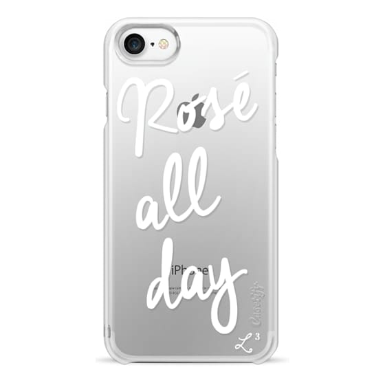 iPhone 7 Cases - Rose' All Day - White Transparent