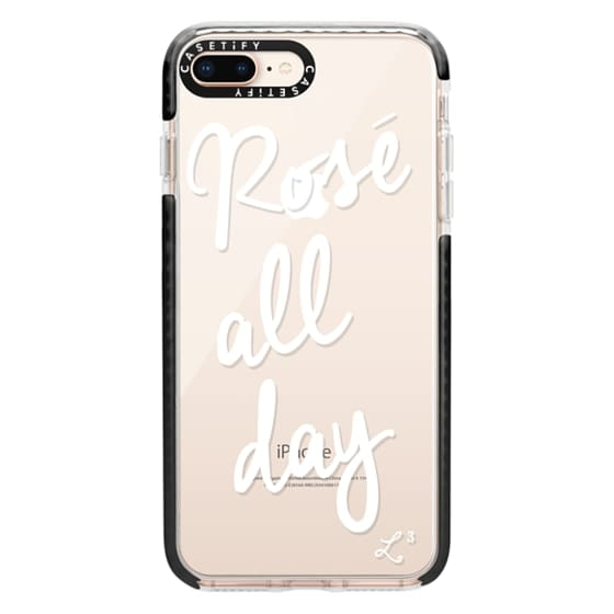 iPhone 8 Plus Cases - Rose' All Day - White Transparent