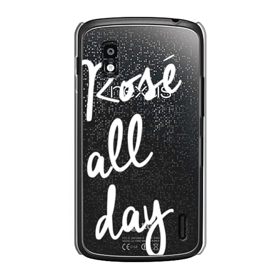 Nexus 4 Cases - Rose' All Day - White Transparent
