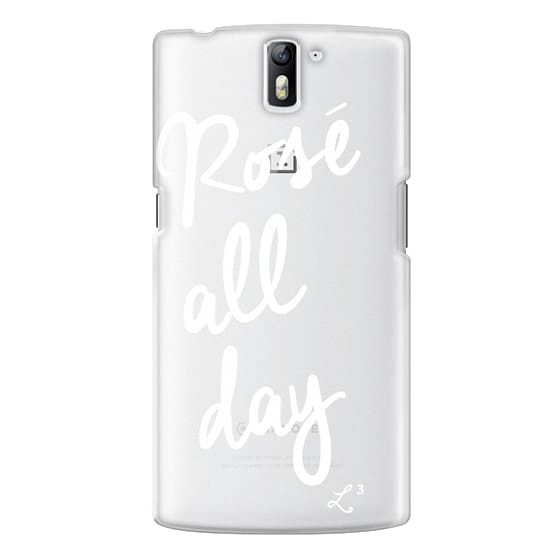 One Plus One Cases - Rose' All Day - White Transparent