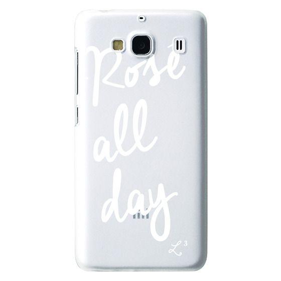 Redmi 2 Cases - Rose' All Day - White Transparent