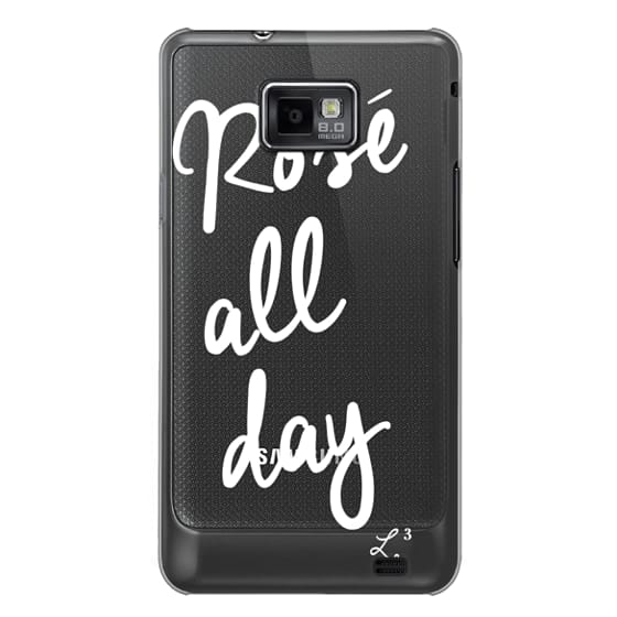 Samsung Galaxy S2 Cases - Rose' All Day - White Transparent