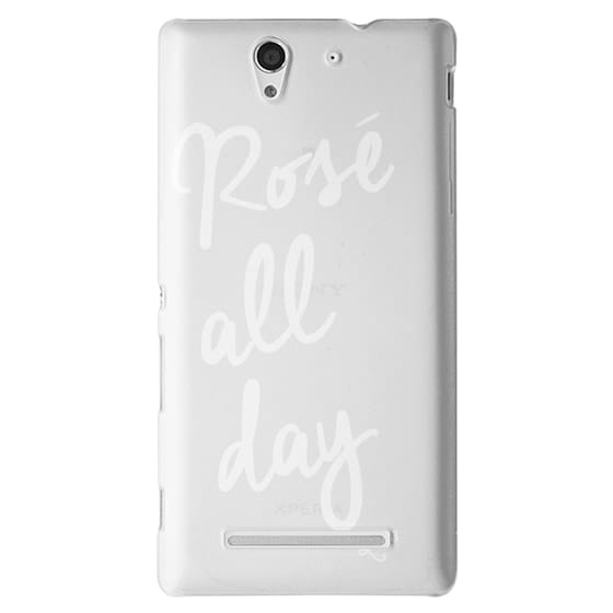 Sony C3 Cases - Rose' All Day - White Transparent