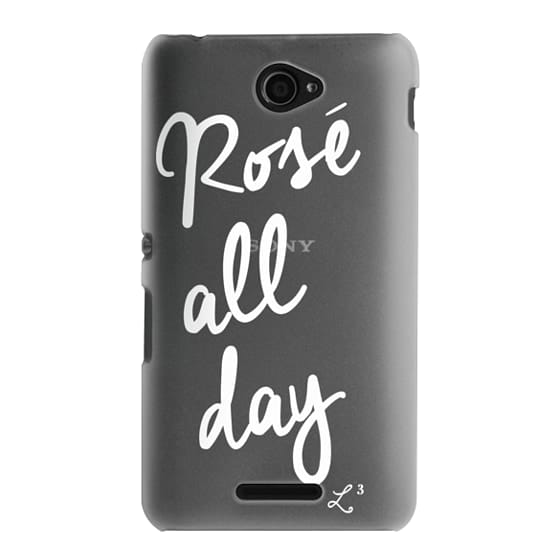 Sony E4 Cases - Rose' All Day - White Transparent