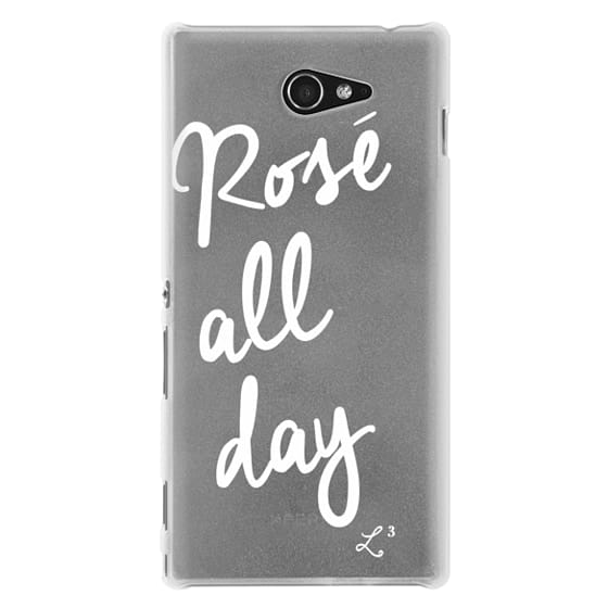Sony M2 Cases - Rose' All Day - White Transparent