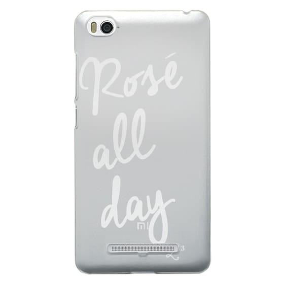 Xiaomi 4i Cases - Rose' All Day - White Transparent