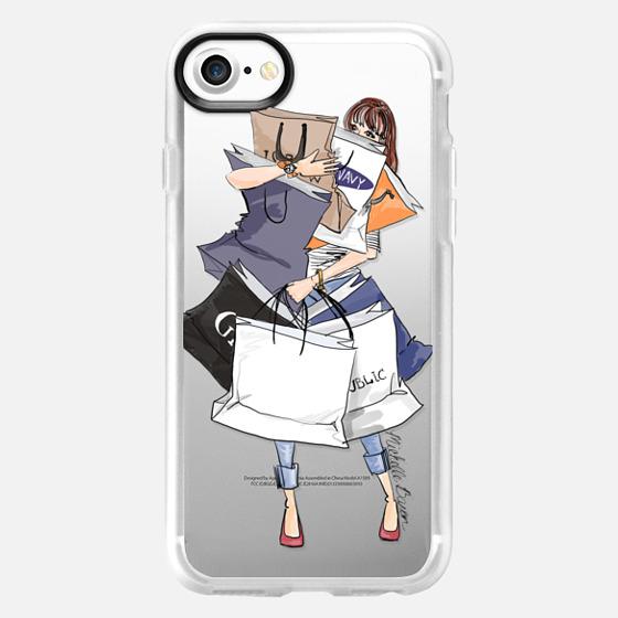 Shopping Fashion Illustration - Wallet Case